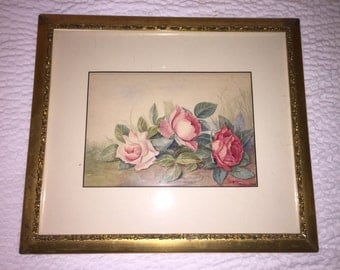 Rose water color painting