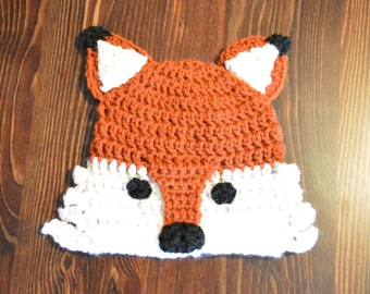 Fox hat, Autumn Hat, Red hat, Animal hat, Brown hat, Baby hat, Newborn hat, Character hat, handmade hat, crochet hat, Winter hat, Baby gift