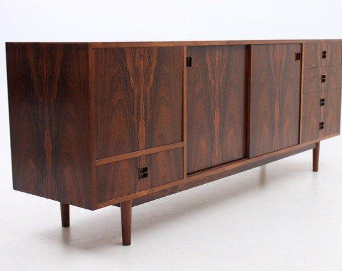 Danish Mid-Century Modern Sideboard Rosewood w/ Bar FM Mobler