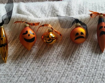 Hand Painted Halloween Ornaments