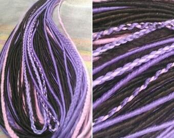 Ready made set of double ended synthetic dreads. Classic de dreads+de braids+fantasian de braids.