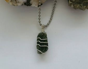 Moldavite Necklace, Pendant, Tektite, Meteor, Meteorite, Inner Journeys, Crystal Consciousness, Protection, Extraterrestrial