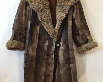 Vintage 1920s Real Fur Coat 1930s Art Deco Antique Original 8 10