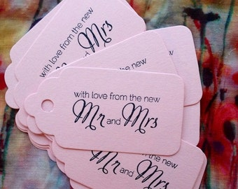 x20 With Love From the New Mr & Mrs Wedding Gift Labels Favour Tags