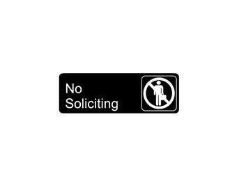 No Soliciting Decal, No Solicitors Sign, Window Decal, Store Signage, No Soliciting Sticker