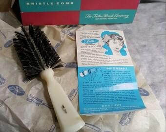 Vintage100% Fuller Boar bristle bristlecomb hairbrush N.o.s. 1960s