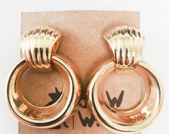 Chantal Vintage Drop Hoop Earrings
