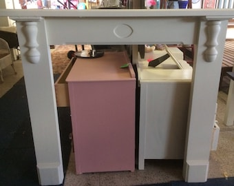 Hand painted fire surround 76
