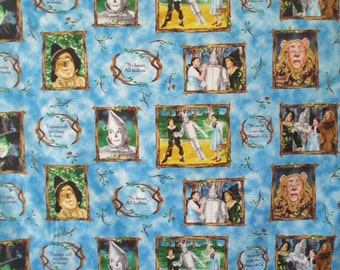 bty ~ WIZARD OF OZ ~ fabric snapshots quotes quilting treasures