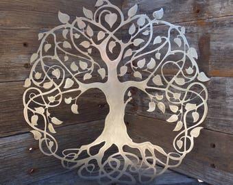 Metal Maple Tree