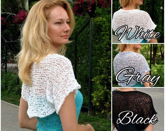 Gift for bride wedding shrug bridal topper spring wedding bolero lace summer wedding dress topper wedding cover up bridal wrap bridal cape