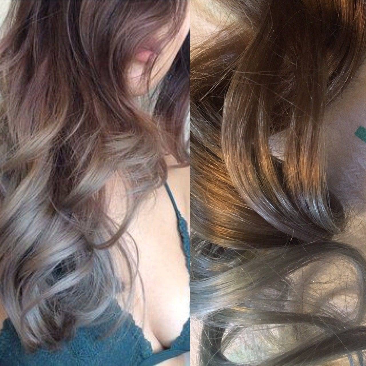 Silver Hair Grey Hair Mint Hair Balayage Hair Ombre Hair Dark