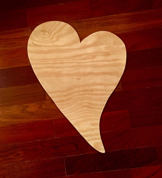 Love Heart Wood Blank Diy Blank Valentine Door Decor