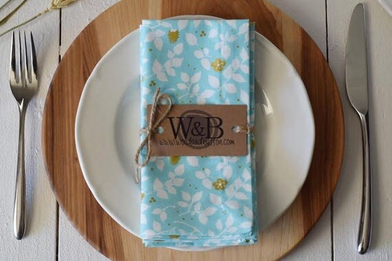 Fabric Napkin   table linen, cloth napkin set, table decor, brambleberry
