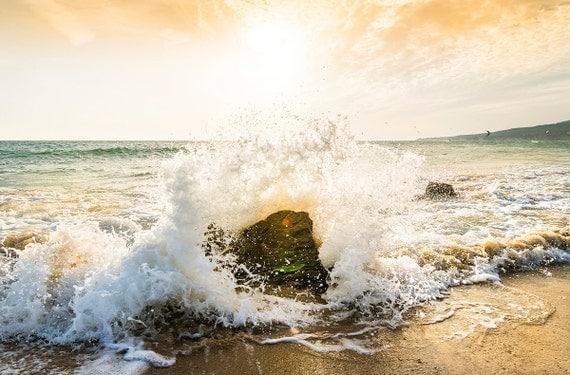 IMPACT. Seascape Print, Tarifa, Spain, Waves Breaking, Photographic Print, Ocean Art