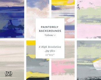 Artistic Painterly Backgrounds - Volume 1
