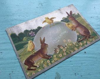 Vintage Embossed Easter Postcard (early 1900's)