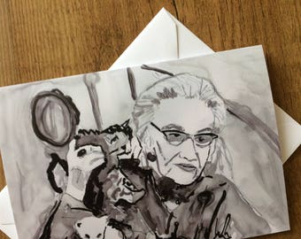Big Edie- Grey Gardens Card/Invitation/Notecard