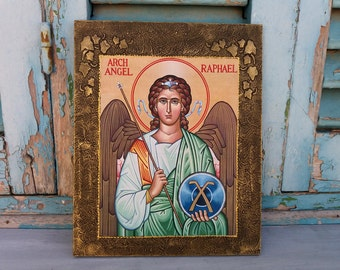 Archangel Raphael,Archangel Rafael,Saint Raphael,Saint Rafael,Archangels,Guardian Angel,Angels Artwork,God Heals,God who Heals,Angels Icon