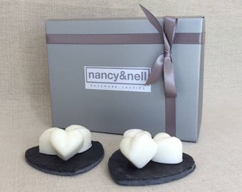 Heart Shaped Wax Melts, Pack Of 12, Scented Wax Melts, Wax Tarts, Birthday Gift, Gift for Her, Gift for Him, Gift Box, Blended Wax