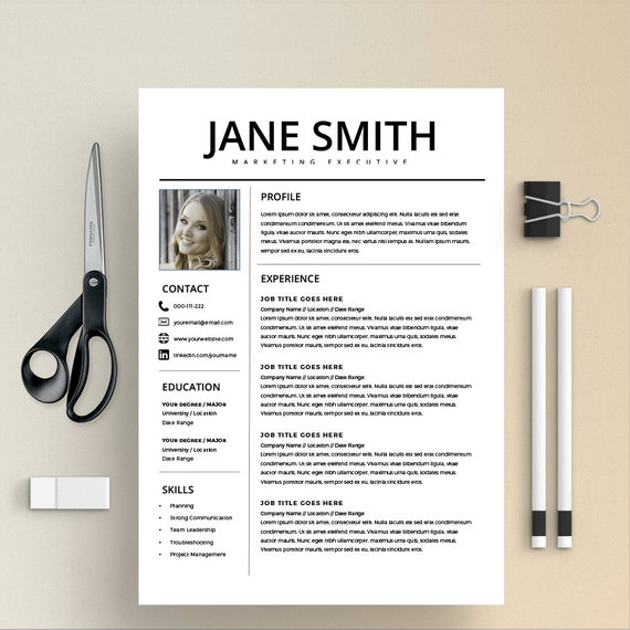 professional resume template word  u0026 page compatible best