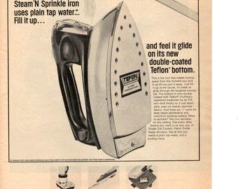 1966 Westinghouse Steam Iron vintage magazine ad wall decor  (LG)