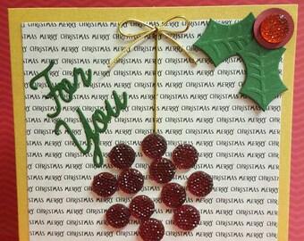 Ornament, Holly Card