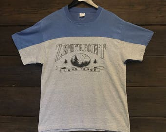 1980's Lake Tahoe Zephyr Point Tee Shirt