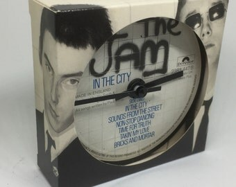 The Jam - Clocks made from vinyl record. All Mod Cons. In The City. The Gift. Snap. Setting Suns.