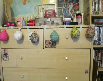 Easter Egg Garland Hanging Decoration Fabric Gift Teenager Birthday Handmade
