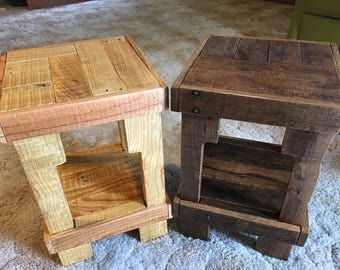 Handcrafted Wood Side Table - Reclaimed Lumber - Rustic Occasional Table - Pallet Wood Side Table - Handcrafted Coffee Table