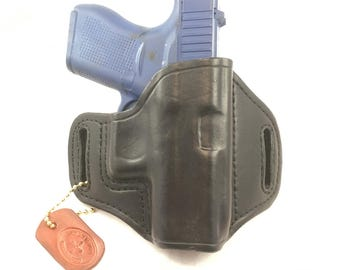 Glock 43 (zero cant) - Handcrafted Leather Pistol Holster