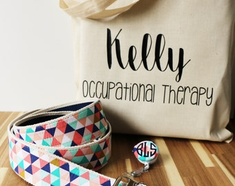 Therapy Tote, Gait Belt and ID Badge Reel