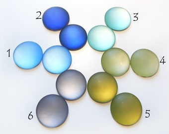 1pc 20 mm Lunasoft Cabochon Lucite Flat Back Cabochon Round Pick Your Color of 18 Colors