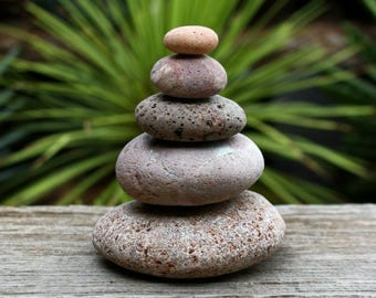 Beach pebbles cairn 0.9 to 3.5 inches zen art ideas balanced rocks craft supplies reddish color flat stones zen garden buddha decoration Z5
