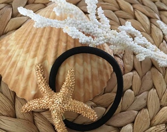 Starfish Hair Elastic band,Pony Tail Holder,Coastal