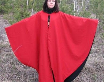 Two-sided cloak with hood by Steel Mastery™