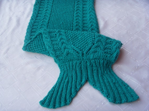 Mermaid tail blanket pattern Knitting pattern mermaid Mermaid tail pattern Me...