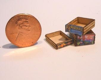 Miniature Quarter (1:48) Scale Crates Kit