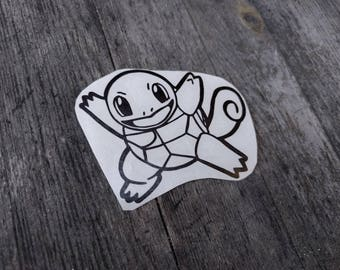 Squirtle Decal, Pokemon, Decal, Nintendo, Sticker, Vinyl, Squirtle