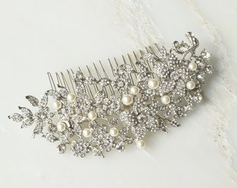 Eleanor Oversized Bridal Silver Hair Comb