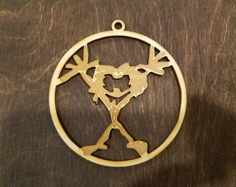 Laser Cut Wood Pearl Jam Ornament