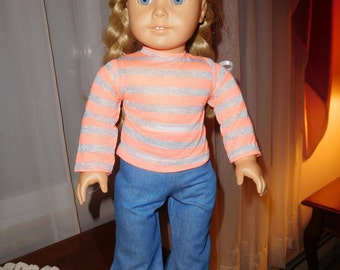18 inch doll jeans and tee shirt