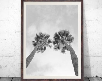 palm tree print palm print palm tree photography black and white printable - Palm Tree Decor
