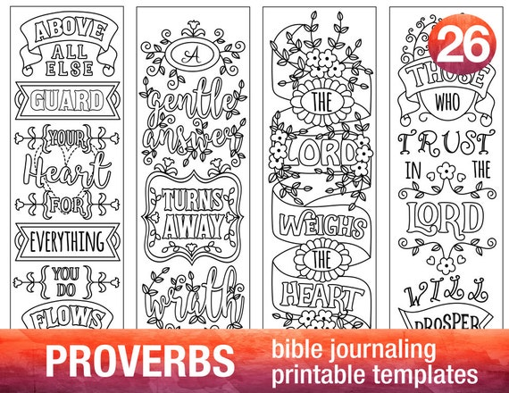 Proverbs 4 Bible Journaling Printable on Create Your Own Traceable Name