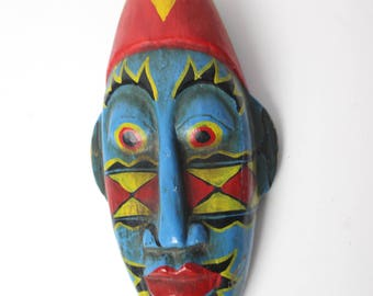 Indonesian Wood Carved Head