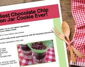 The Best Chocolate Chip Mason Jar Cookie downloadable PDF or JPEG Eating Cleaner recipe file