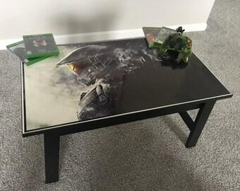 Halo Master Cheif Custom XBOX Video Game Coffee Table