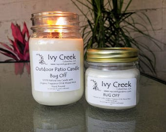 BUG OFF Outdoor, Patio Candles, Citronella, Natural Candles, Natural Soy  Candles,