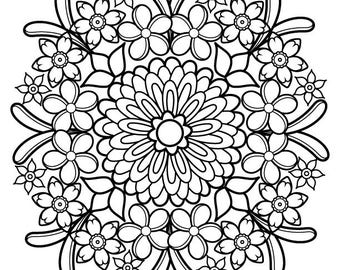 Iron-On Transfer - Thaneeya Mandala Flower 4